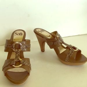 Sofft  leather sandals heeled slides